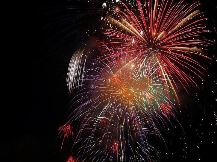 great, fireworks, night