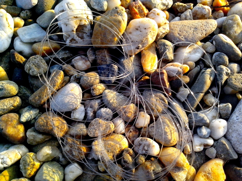 Free photograph; fishing, nylon, string, rocks