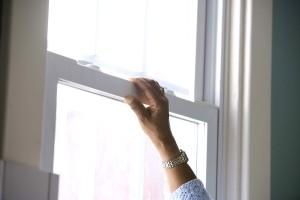 hand, opens, window