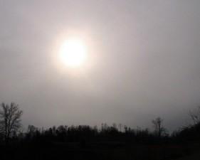 hazy, landscape