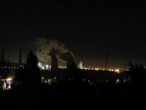 industrial, city, night