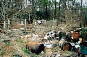 contaminante, zona, spazzatura