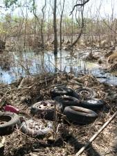 escombros, refugio, huracán, Katrina