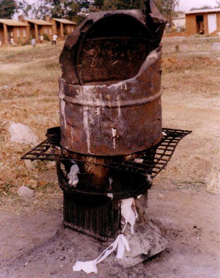 improvisadas, incinerador, Kasungu, distrito, hospital, generados, humos, partículas
