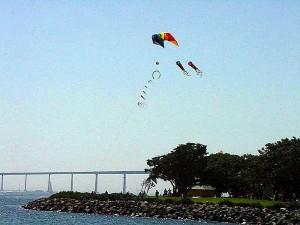kite, beach