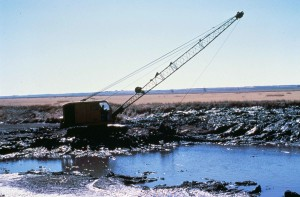 machine, dredging, canal