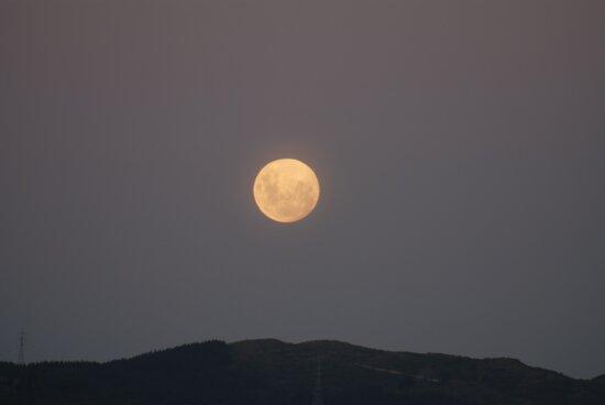 full, Moon, rising
