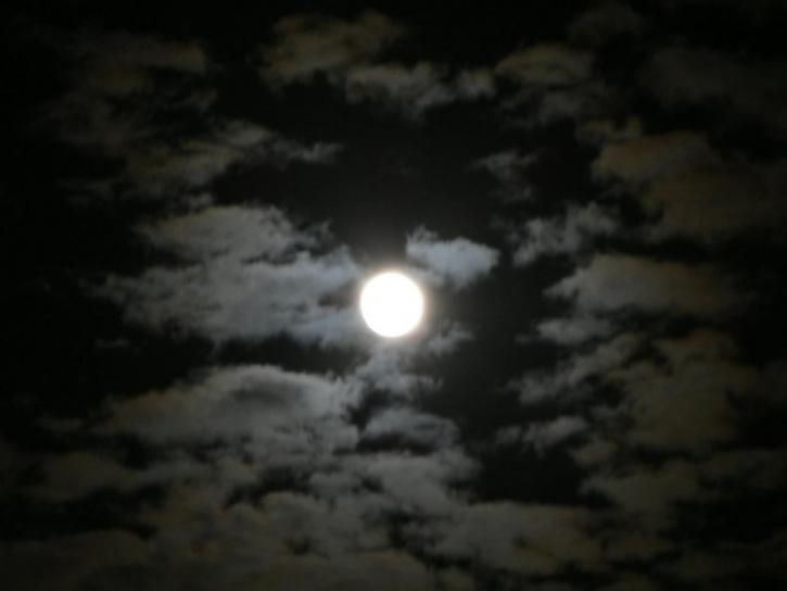 lune, nuit, paysage