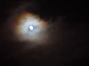 lune, nuages