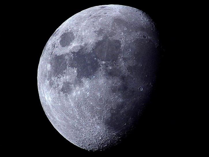 moon, black, night
