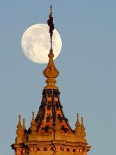moon, setting