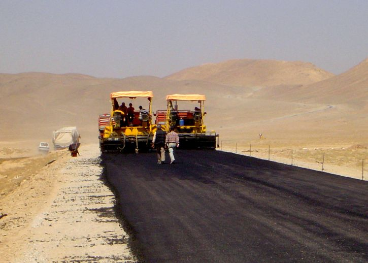 paved, stretch, Afghanistans, main, inter, city, highway, reconstruction