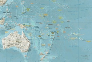 oceania, geopolitical, map, oceania
