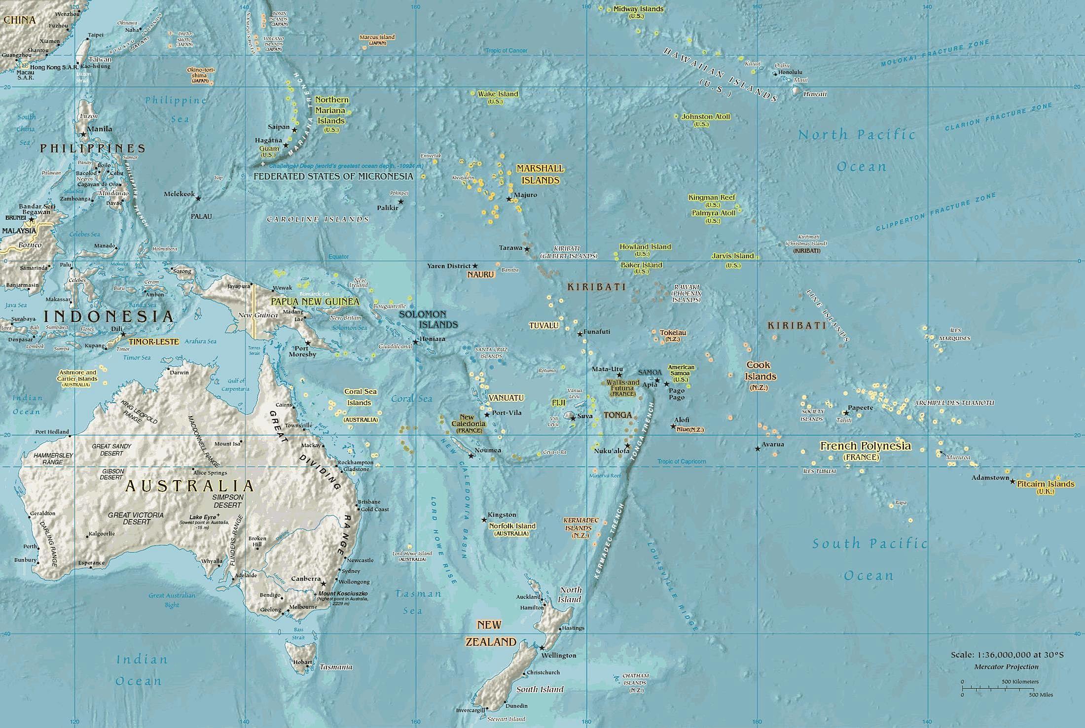 Ilmainen Kuva Oseania Geopoliittiset Kartta Oseania