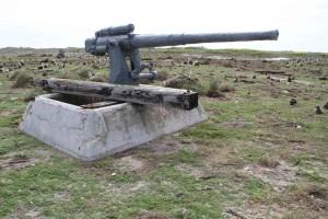 viejo, oxidado, arma, monumento