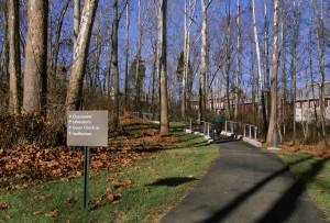 zpevněné, trail, směr, znamení, národní, konzervace, školení, centrum