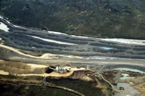 le platine, l'exploitation minière, la perspective aérienne