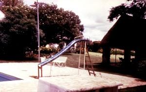 Spielplatz, schwimmen, Bereich, Campingplatz