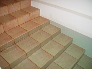 rippling, water, pool, stairs
