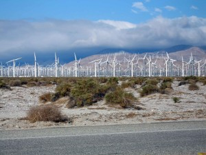 rows, wind turbines, wind, farm, hills