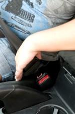 fixation, voiture, ceinture de sécurité, verrou