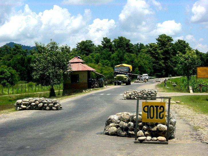sécurité, points de contrôle, la sécurité, les préoccupations, maoiste, des insurgés