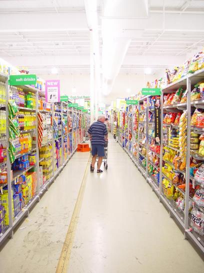 butikker, supermarked