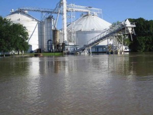 white, river, grain, elevator
