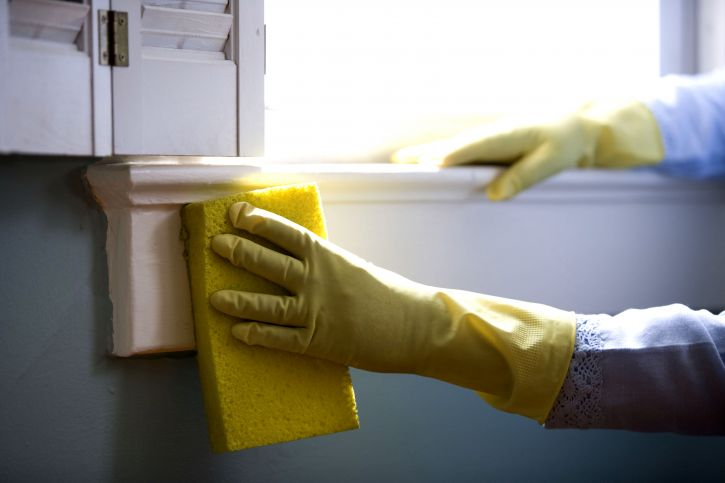 window, cleaning, protective, rubber, gloves, washing, windows
