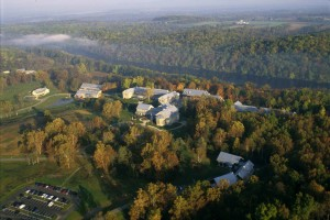 autumn, aerial, national, conservation, training, center