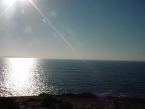 bahía, panorama, paisaje