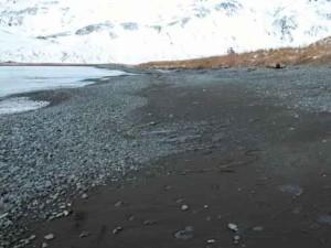 Golful, alb, pietre, nisip