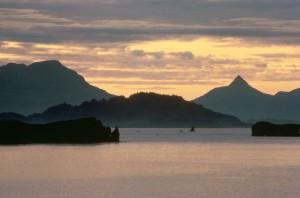 Chiniak, baie, le lever du soleil