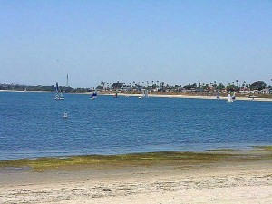 misión, bahía, veleros, agua