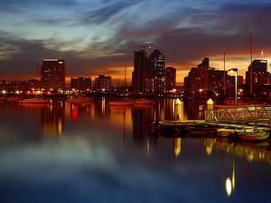 diego, docks, nuit