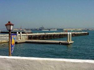 luka, selo, zrakoplova, prijevoznici, pristaništa, vode, uvala, dokovima, brod