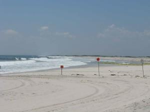 plage, zone fermée