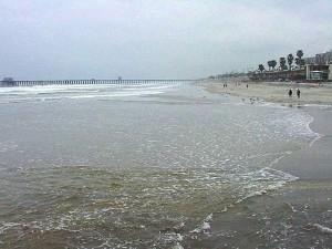 spiaggia, oceano, acqua, sabbia, molo, onde