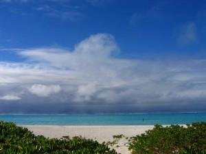 plage, à mi-chemin, atoll, désert, refuge