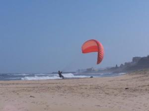 kite, levage, plage