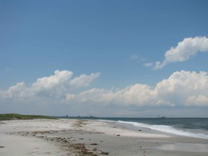 peu, plage, rutgers, champ, la station
