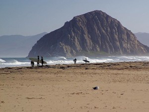morro, rock, beaches, surfers
