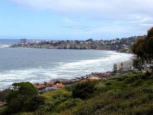 ocean, beach, cliffs