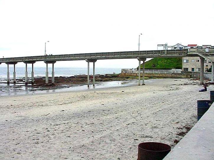 ocean, beach, pier, sand