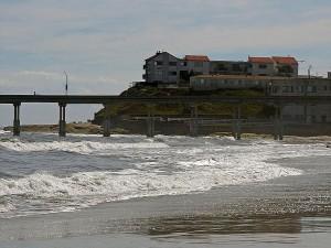 ocen, beach, pier