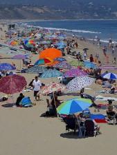 santa, Monica, beach