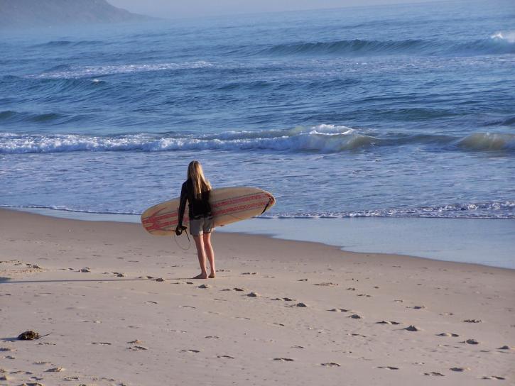 female, woman, surfer, beach, ocean