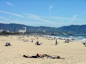 venise, plage, paysage
