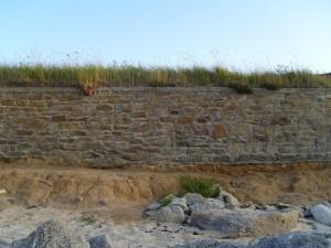 wall, beach