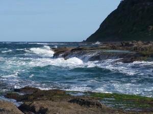 le vent, la plage, les vagues